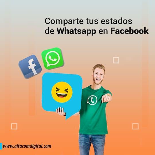Cómo compartir los estados de WhatsApp como historias de Facebook