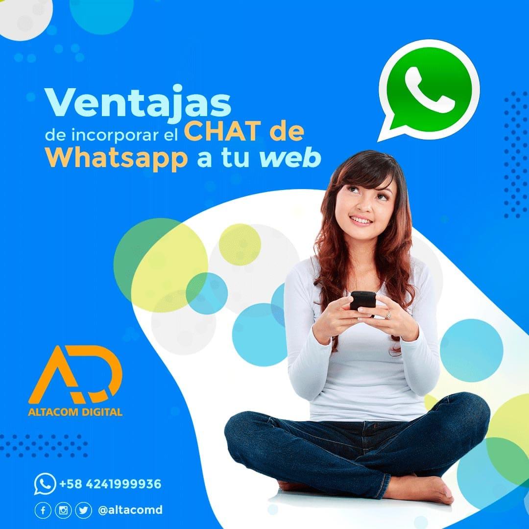 Ventajas del chat de Whatsapp en tu página web