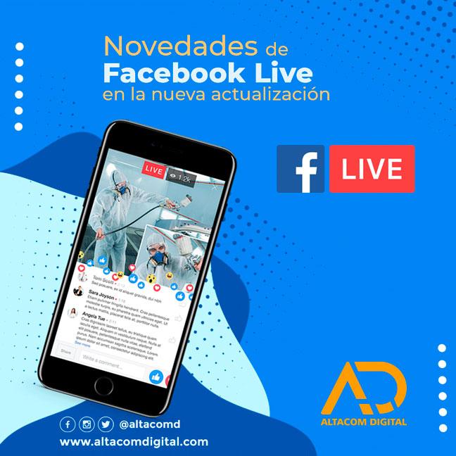 Novedades de facebook live