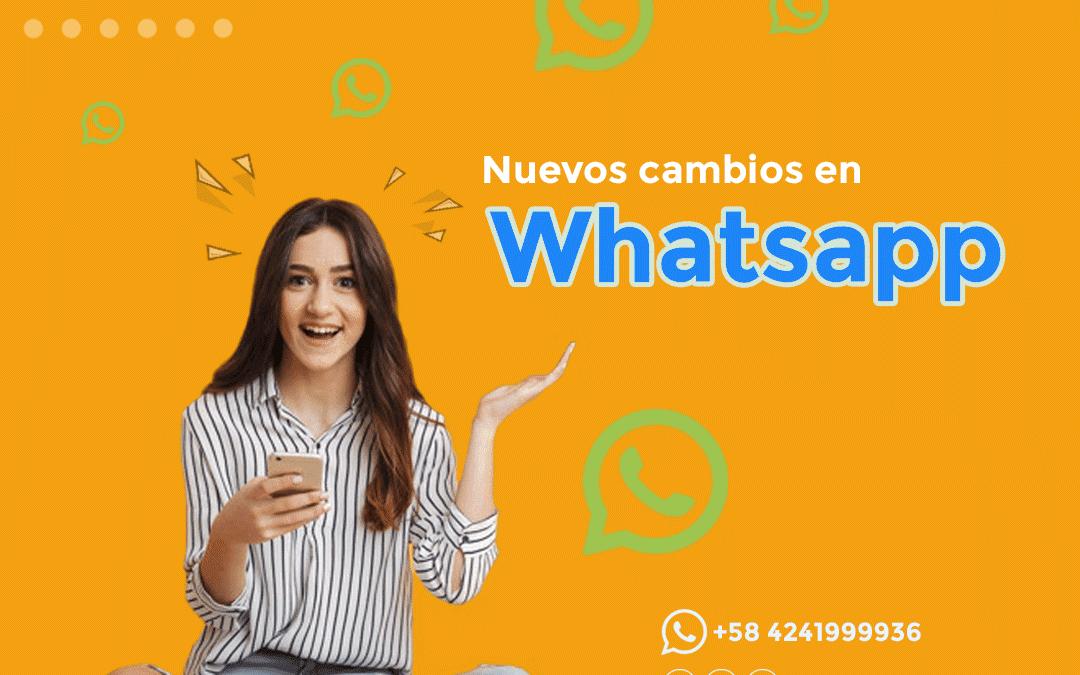 Nuevos cambios en Whatsapp