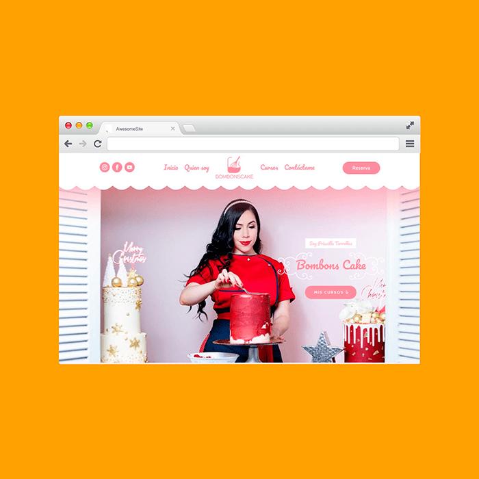 Diseño de Páginas Web Venezuela - Bombons Cake