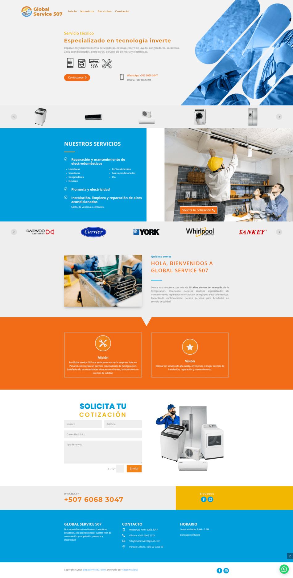 Global Service 507 - Diseño de páginas Web Venezuela