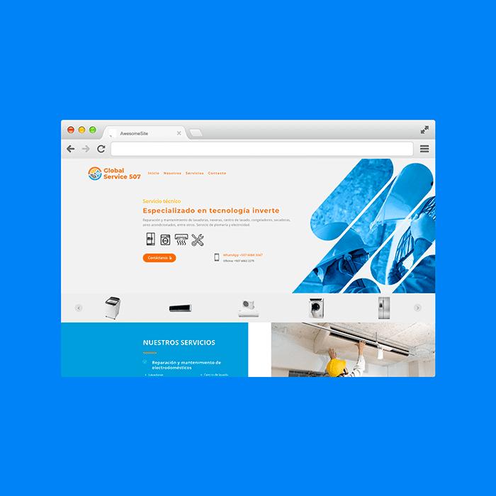 Diseño de Páginas Web Venezuela - Global Service 507