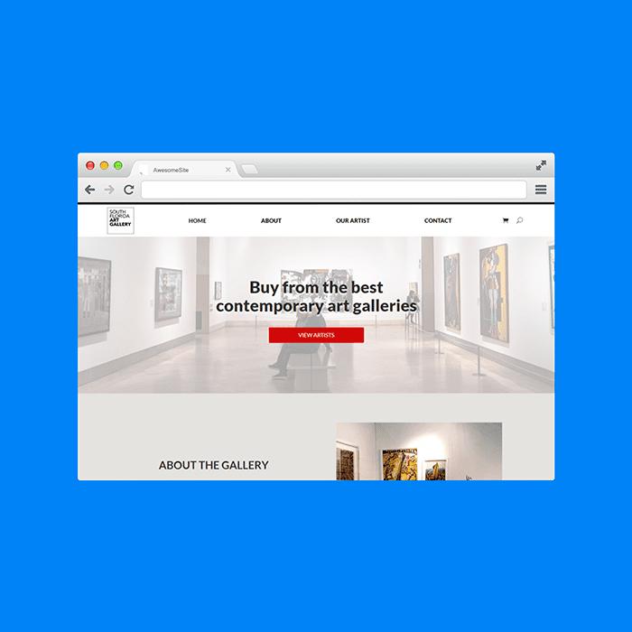 Diseño de Páginas Web Venezuela - South Florida Art Gallery