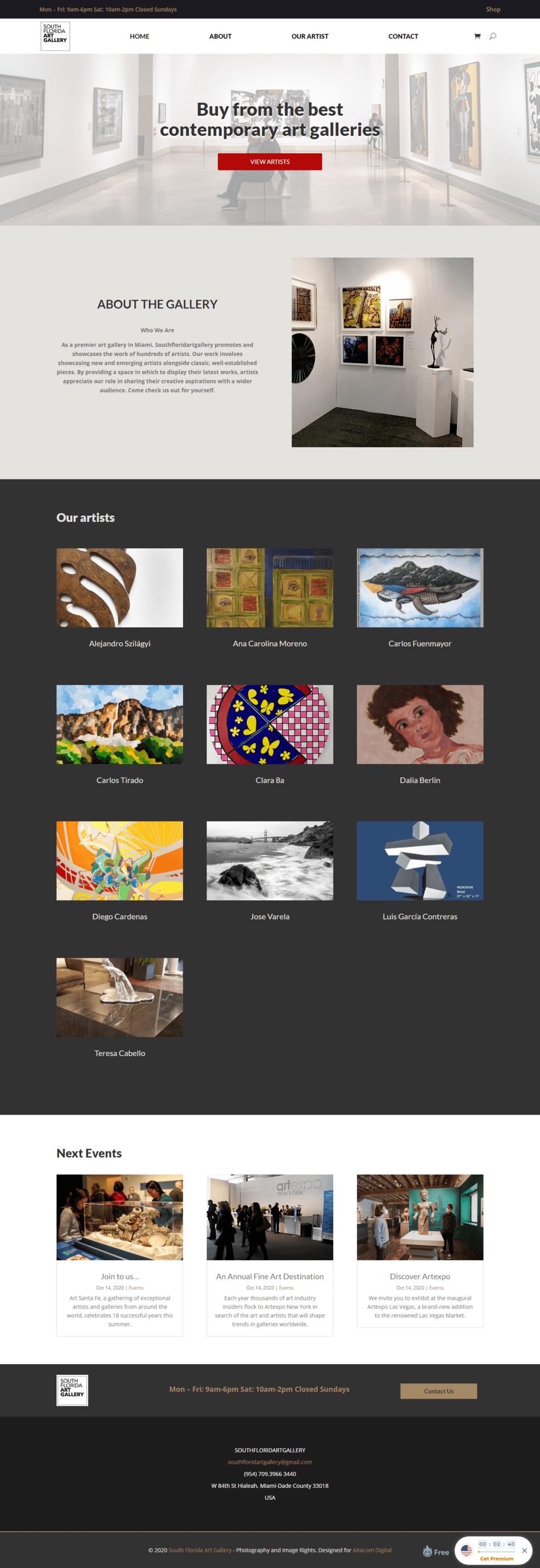 South Florida Art Gallery - Diseño de páginas Web Venezuela